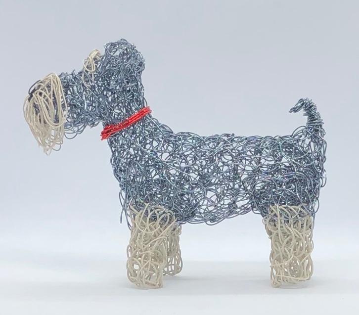 Wire Schnauzer dog (mantlepiece size)